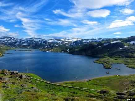 Ascend to Hardangervidda Plateau