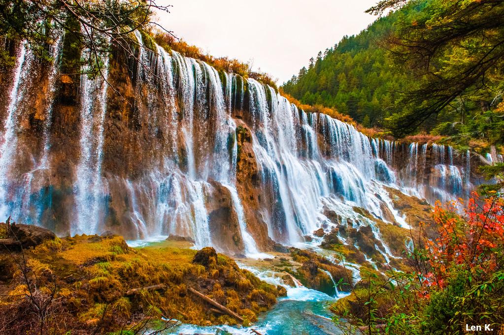 Waterfall in Jiuzhaigou