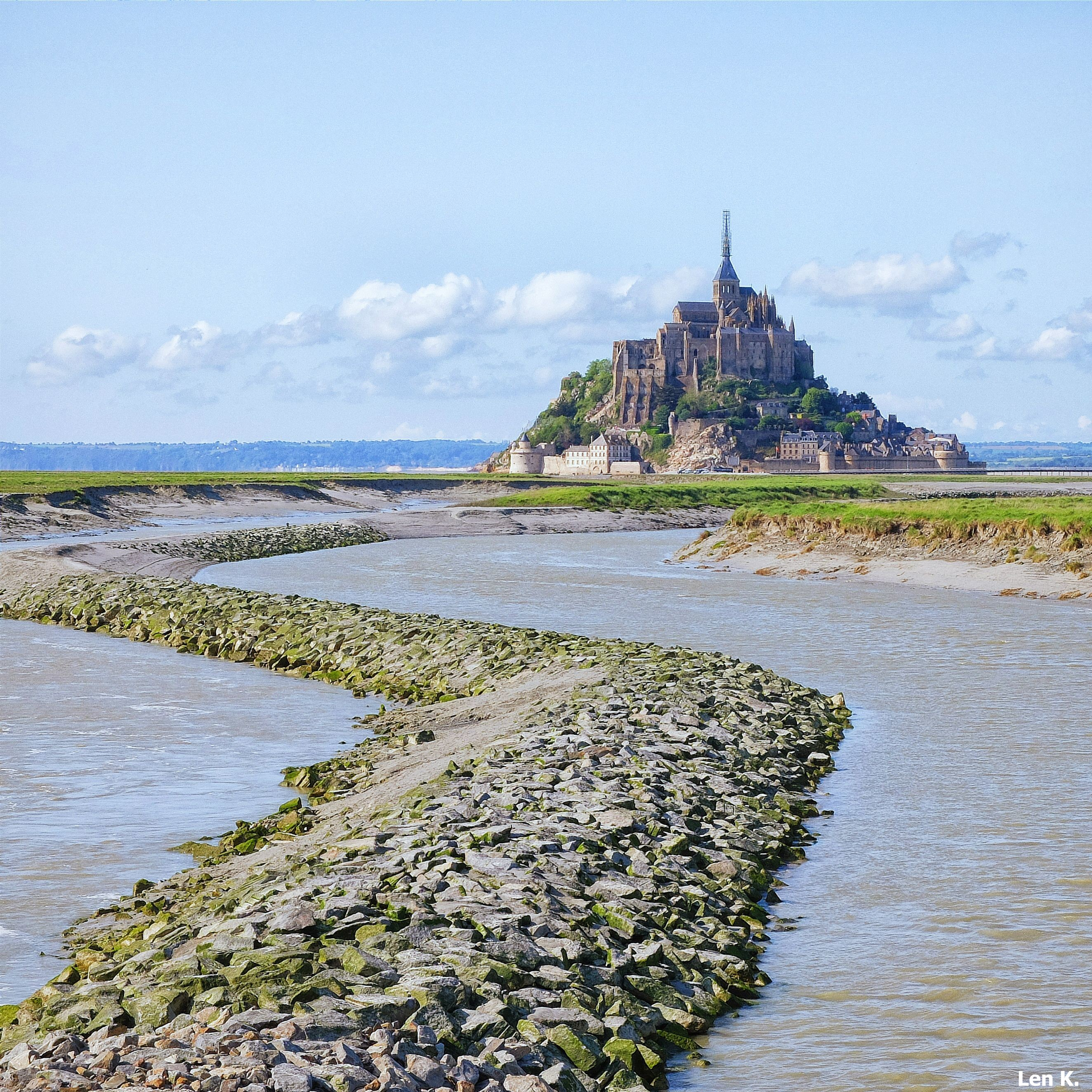 Mont Saint Michel in the morning