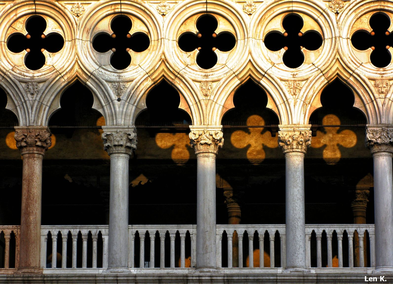 Game of light and shadow at Palazzo Ducale