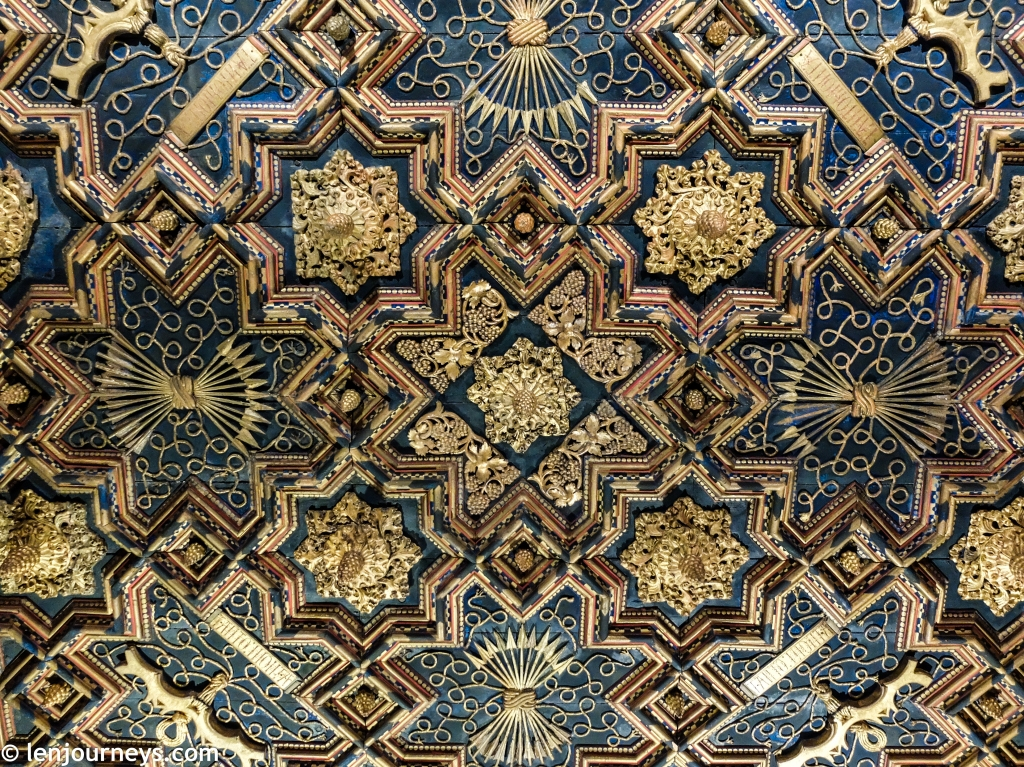 Intricate pattern in the Catholic section