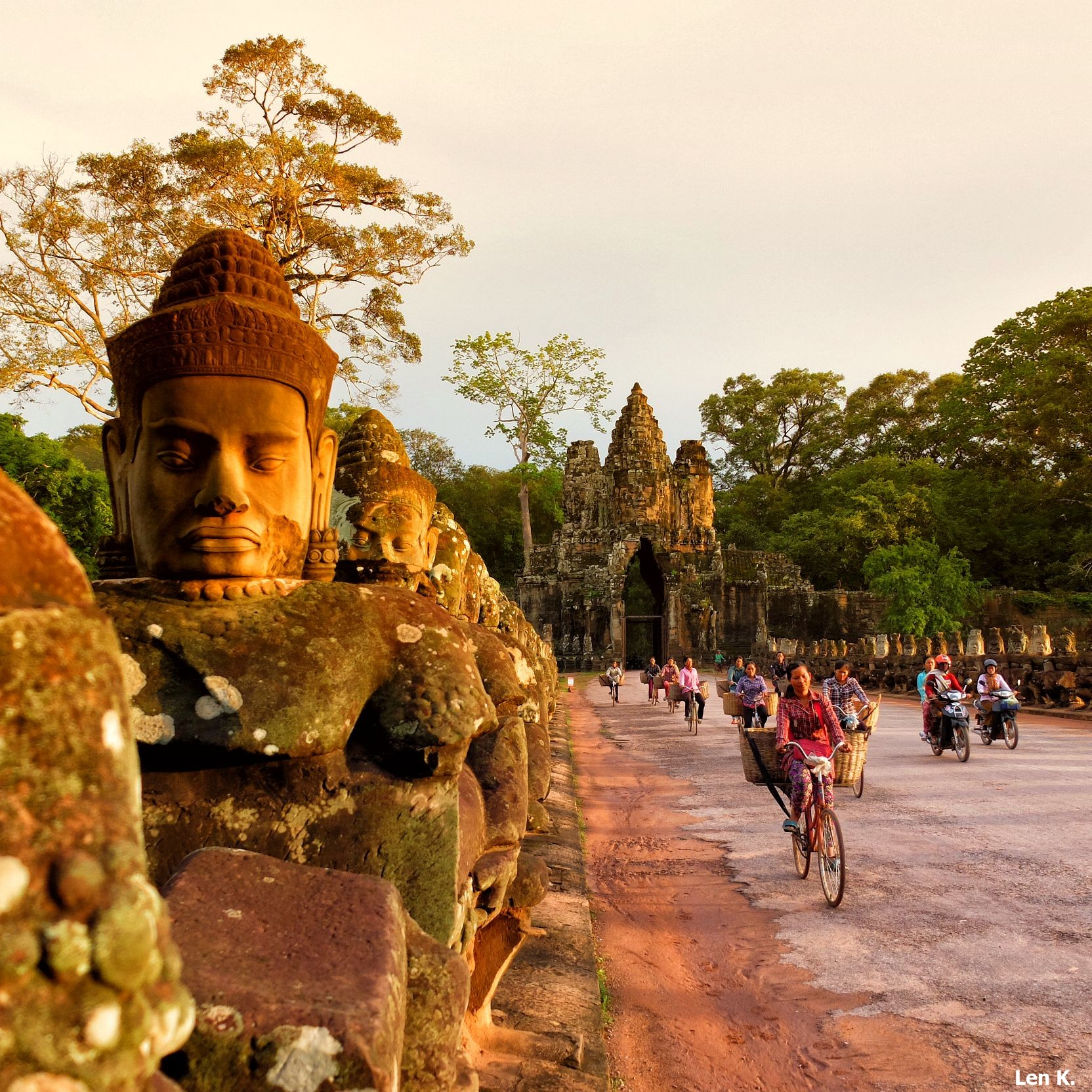 On the road to Angkor Thom