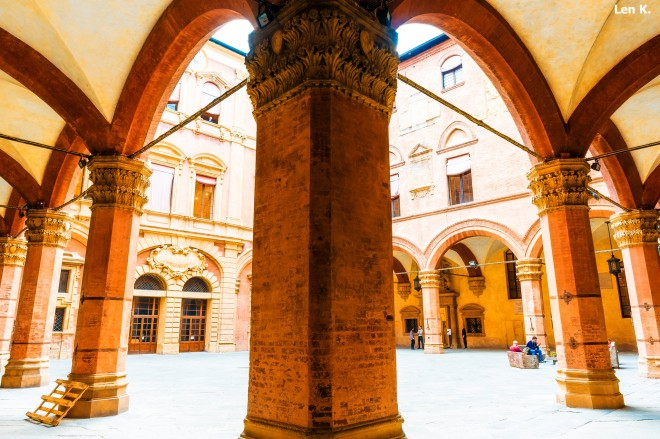 Porticoes inside the university