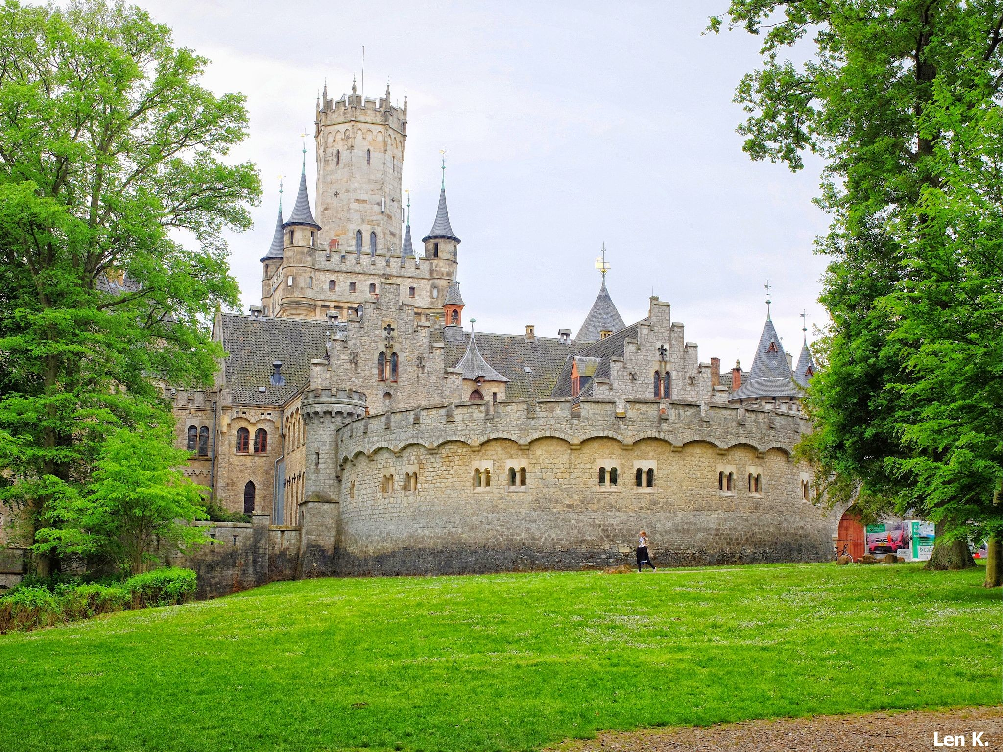 The outer wall of Marienburg