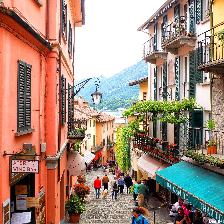 Bellagio's main street