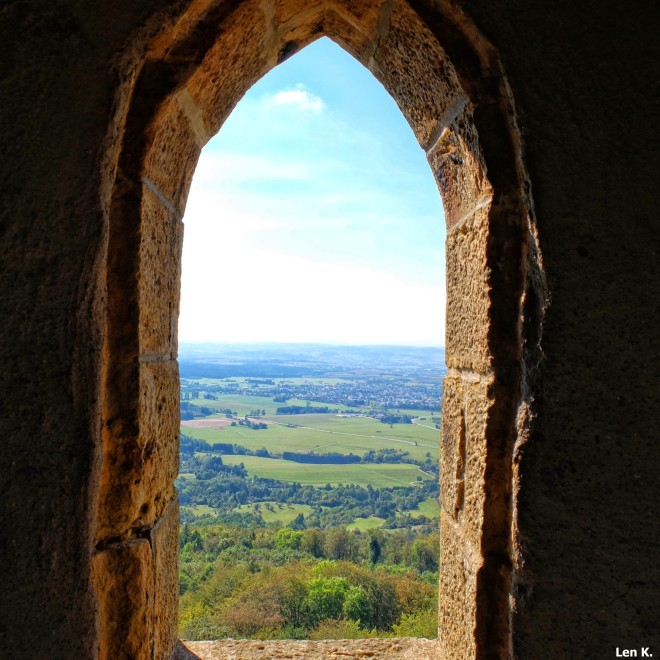 View from one of the battlements