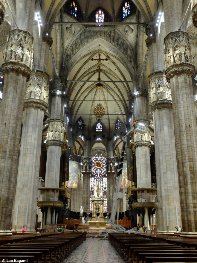 The interior of Duomo di Milano