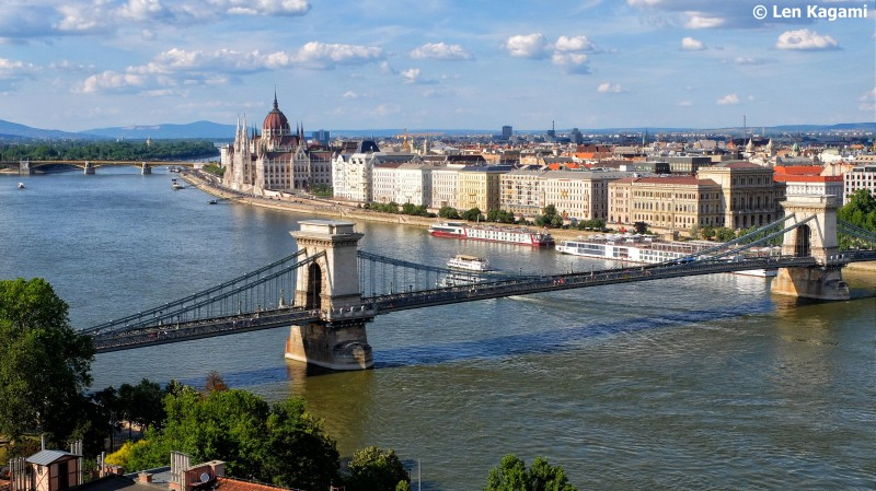 View from of Chain Bridge from Buda