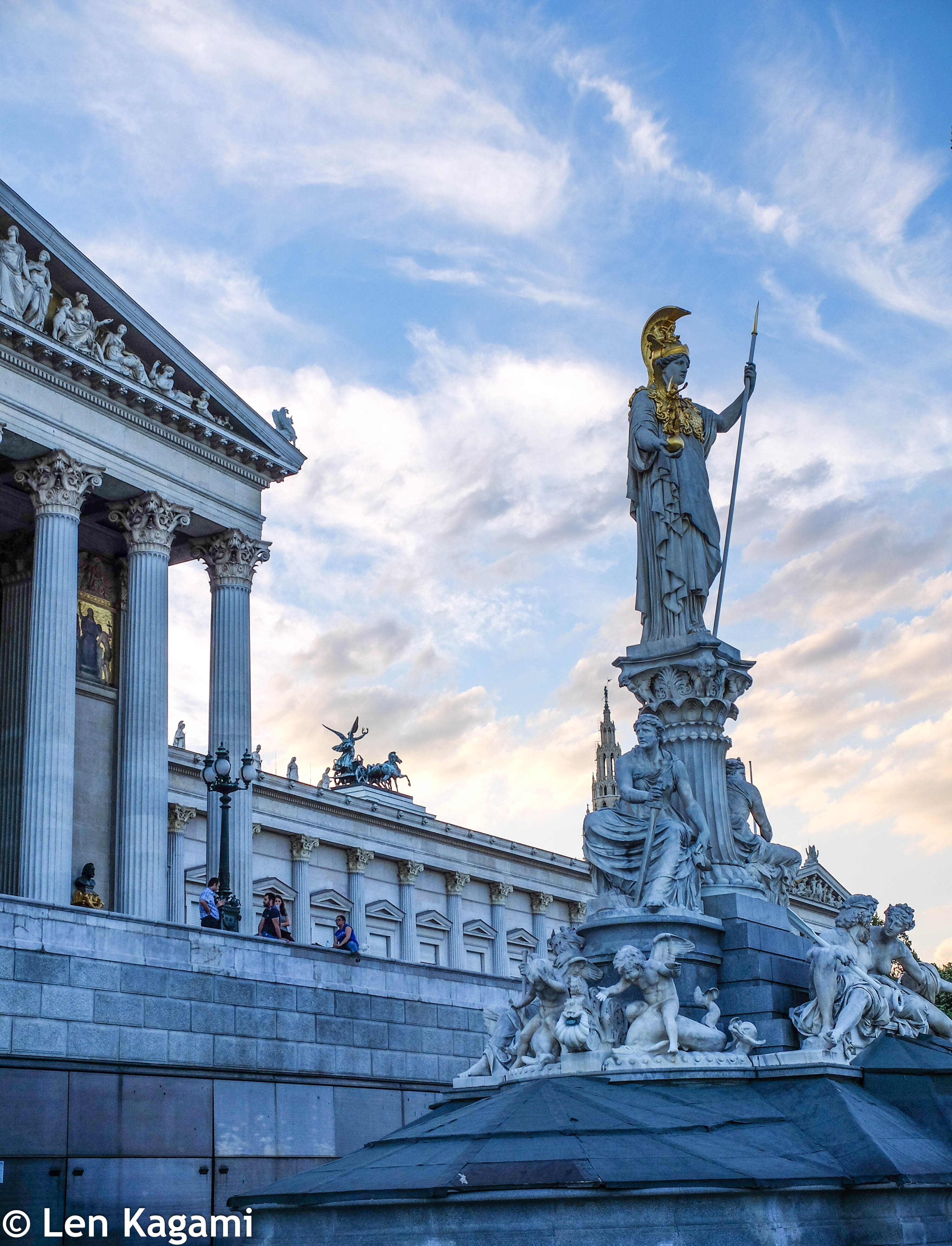 Pallas Athena in front of the Austrian Parliament Building