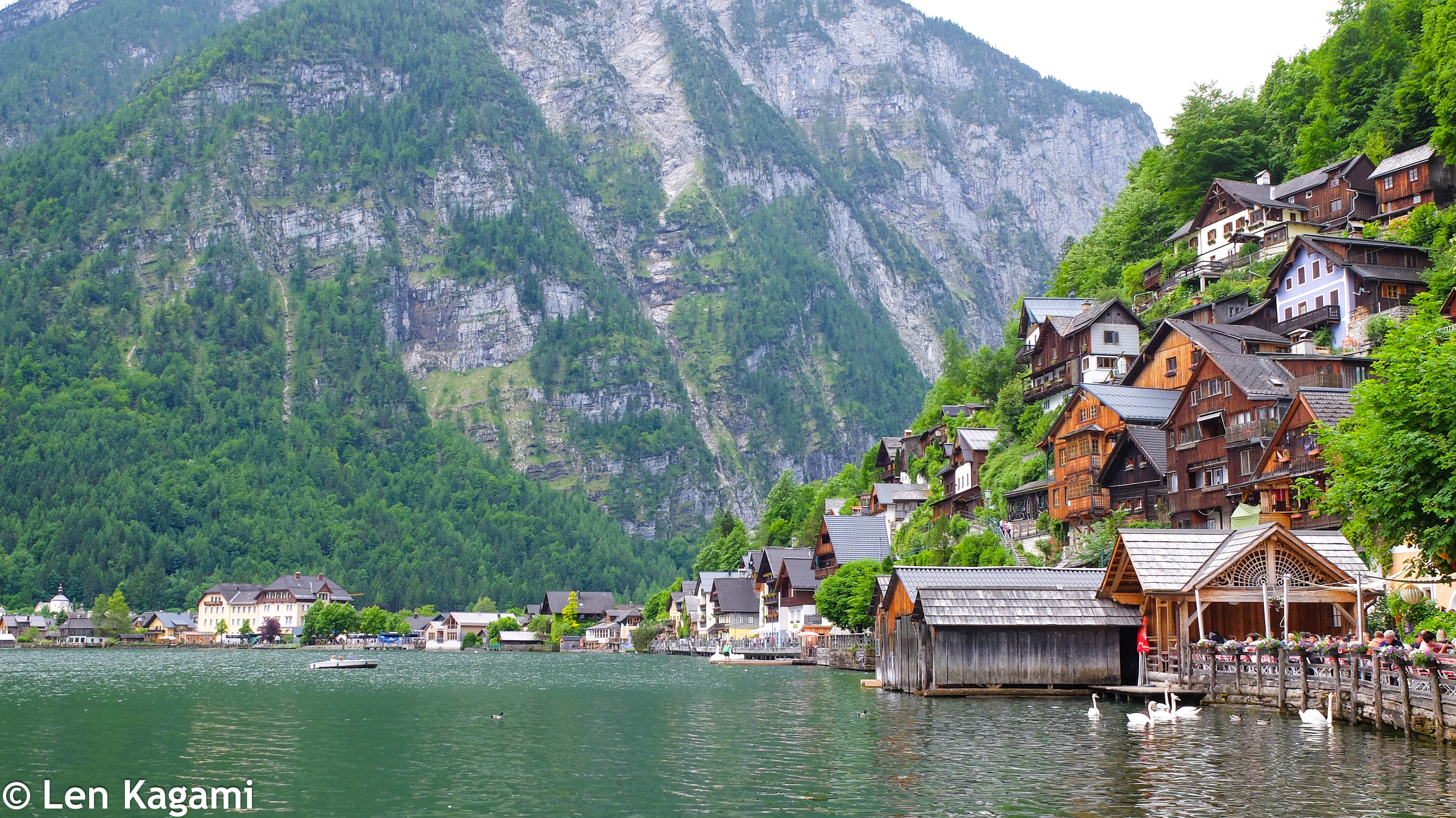 Beautiful Hallstatt Lake