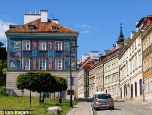 The colourful houses of Warsaw
