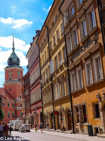 The road of Warsaw Old Town