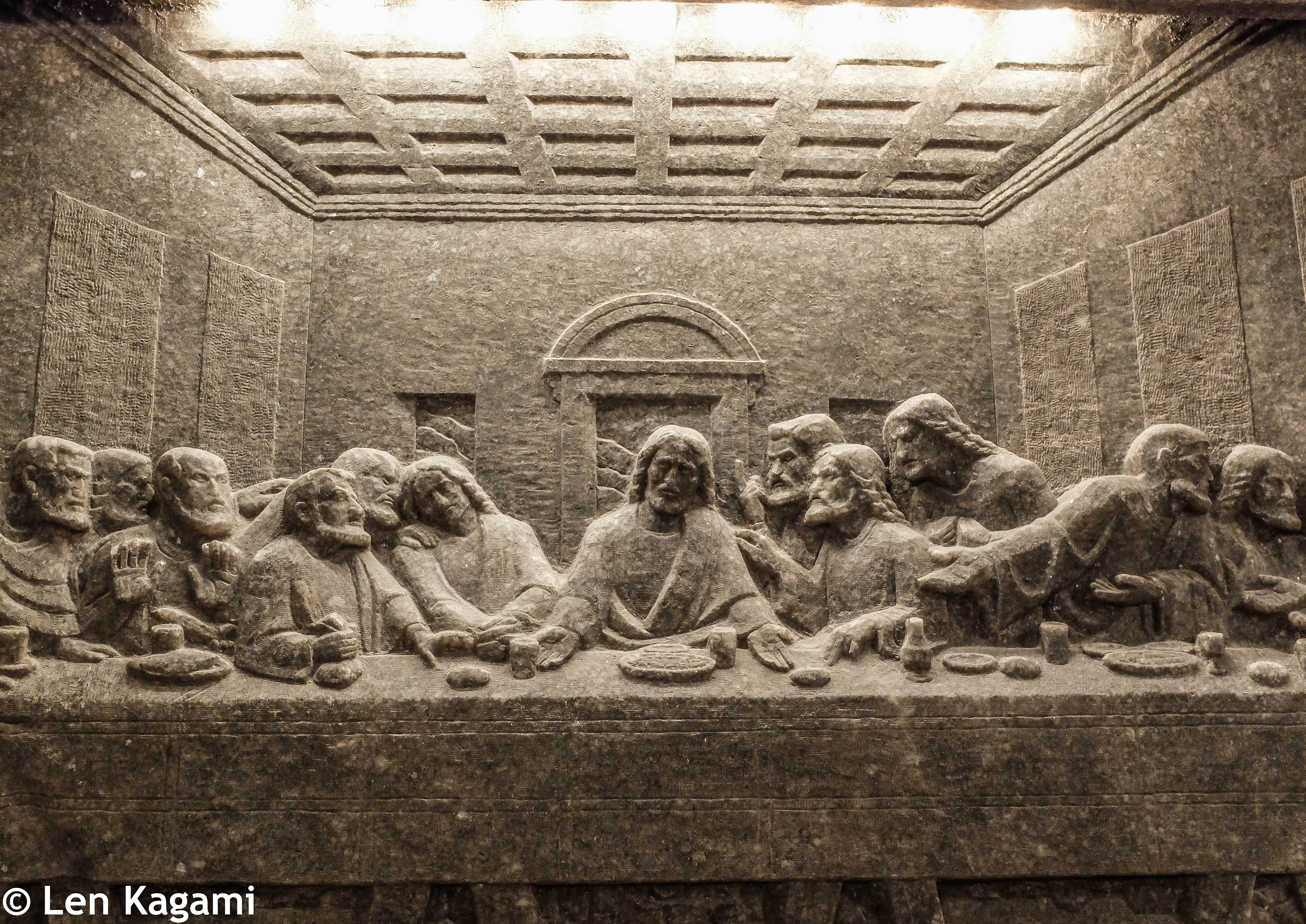 The Last Supper made of rock salt