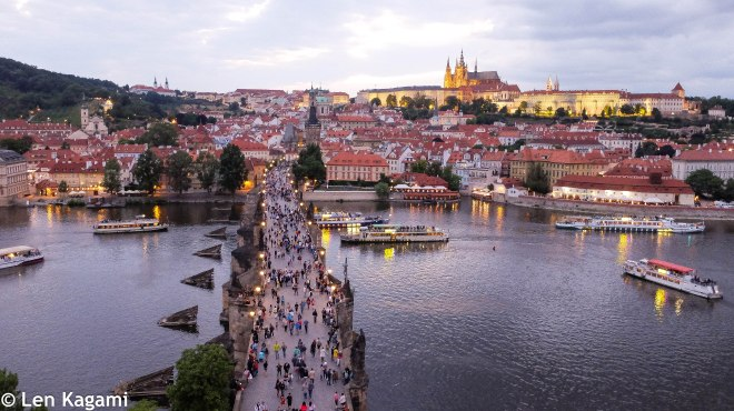 Charles Bridge with Prague Castle in the background