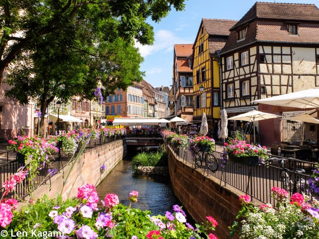 Flowery lanes in Colmar