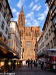 Strasbourg Cathedral approached from rue Mercière