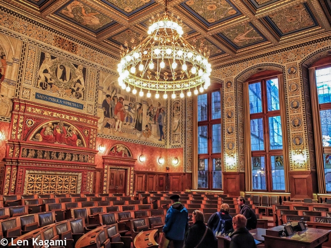 The Great Council Chamber inside the Basel Rathaus