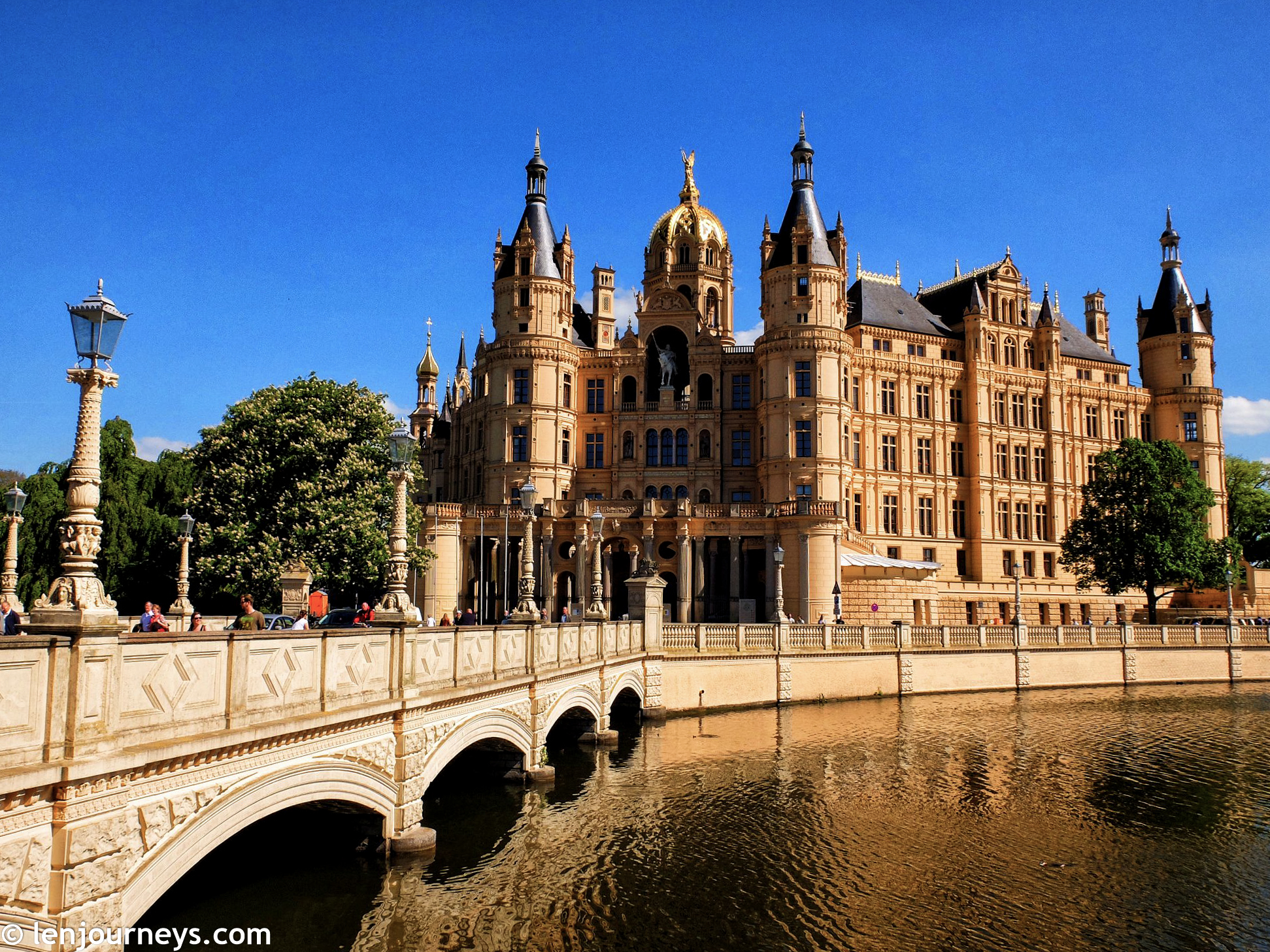 The bridge leading to Schwerin Palace