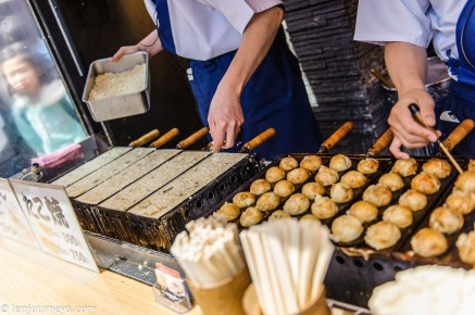 Takoyaki (fried octopus) is a must-have when visiting Minami