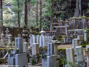Gravestones in Okunoin