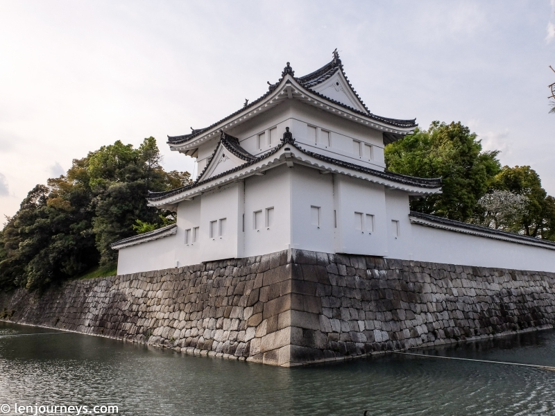 The outer wall of Nijō Castle