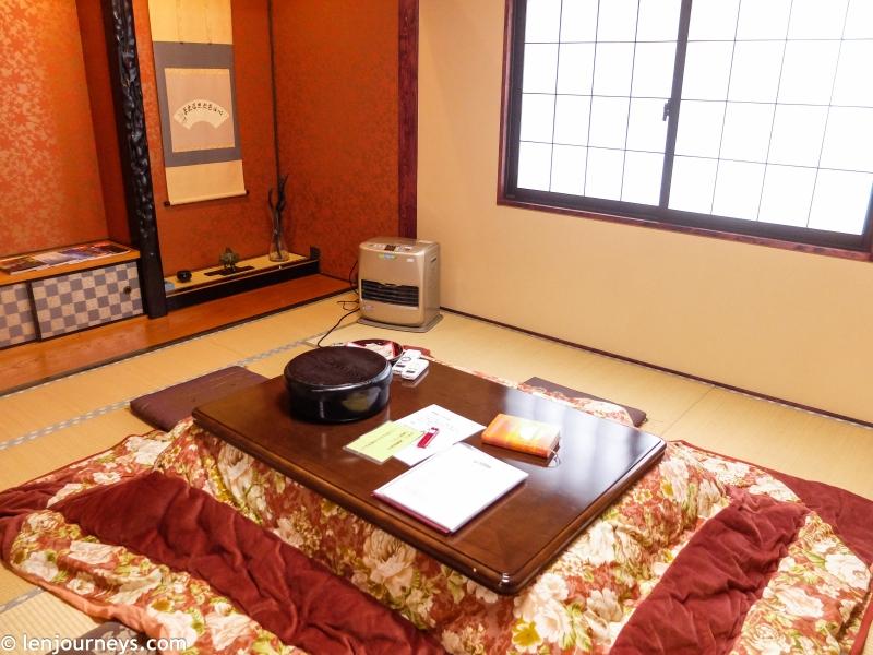 A standard ryokan's room