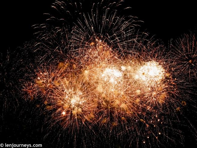 Spectacular firework show