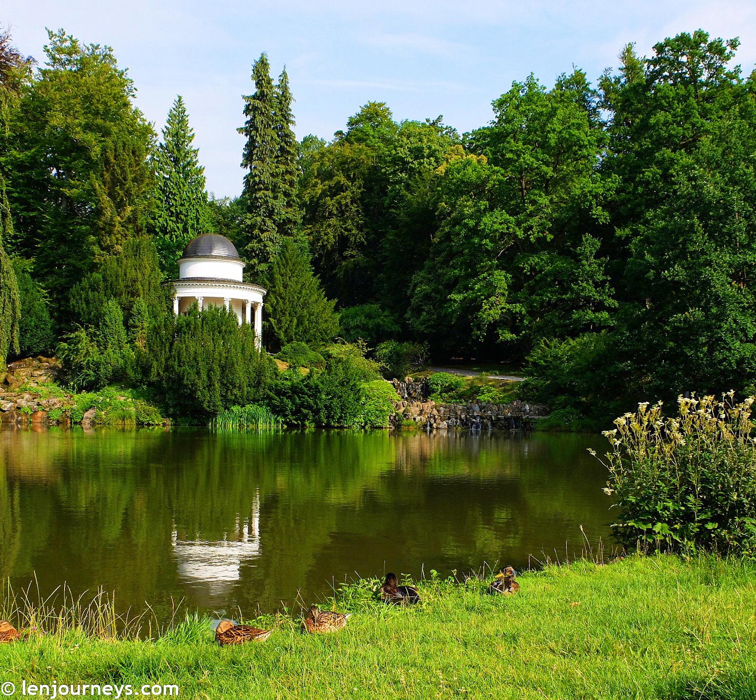 Romantic temple in Bergpark Wilhelmshöhe