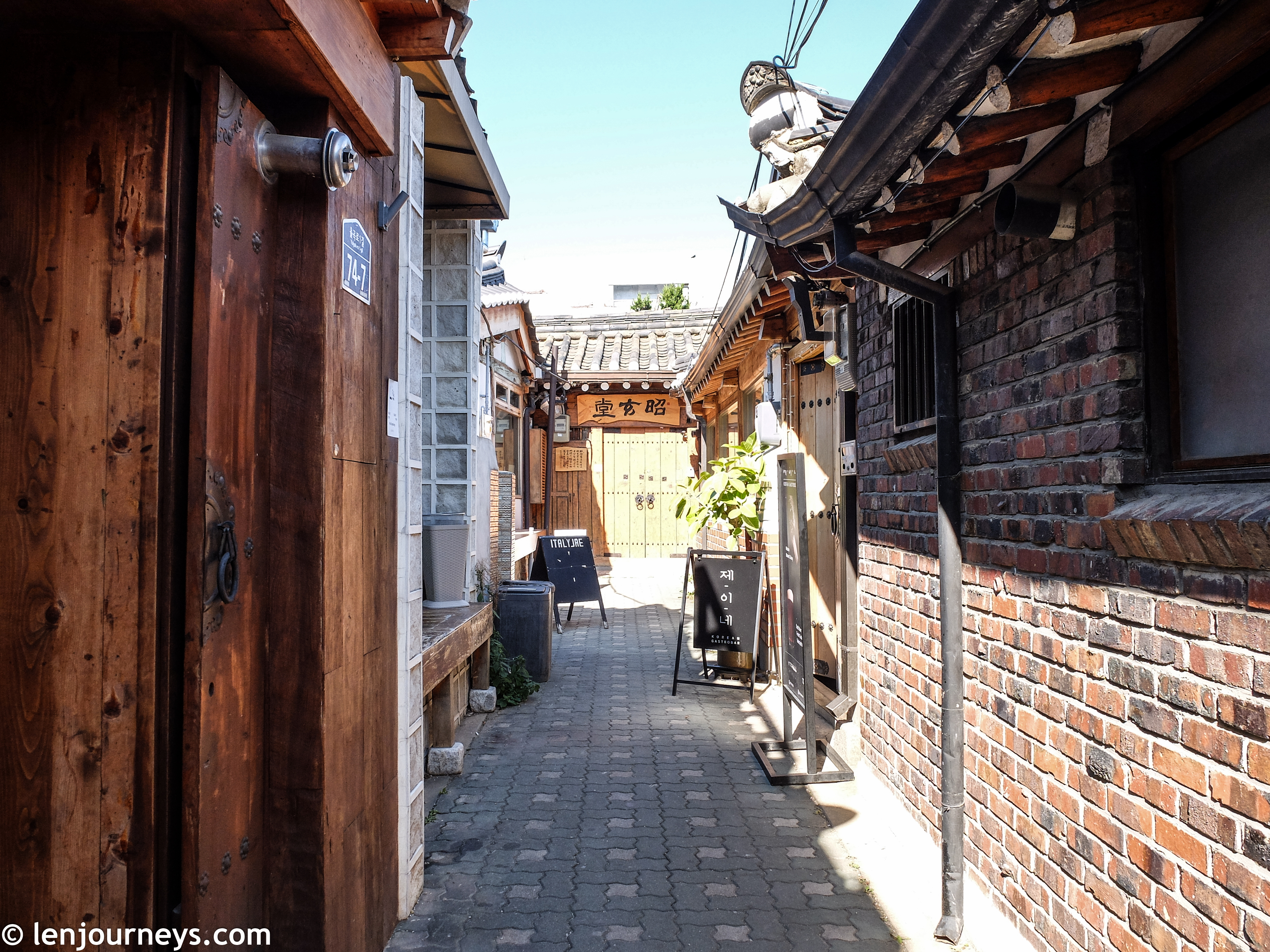 Narrow lanes in Bukchon Hanok Village