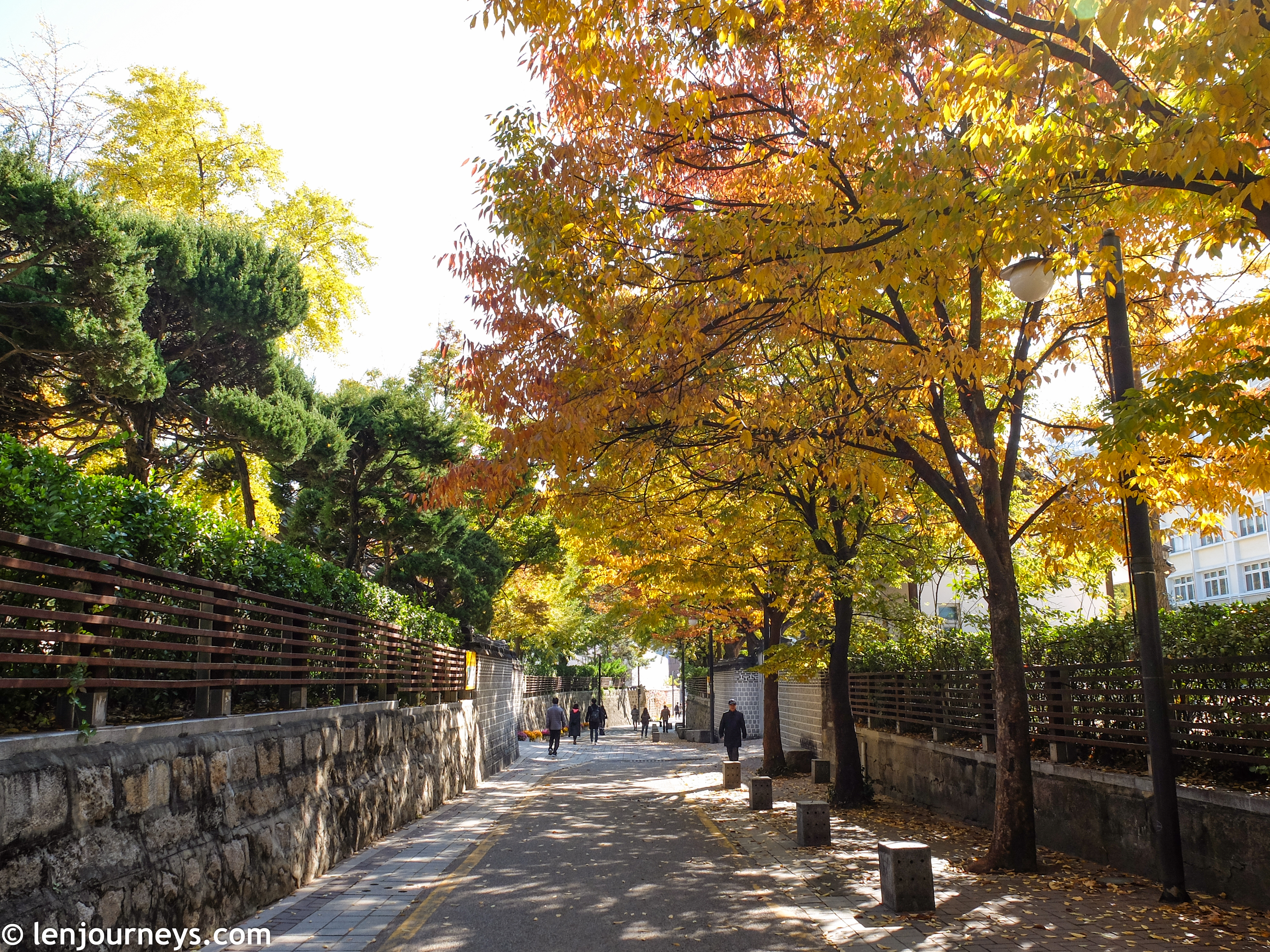 The street of Bukchon Hanok Village