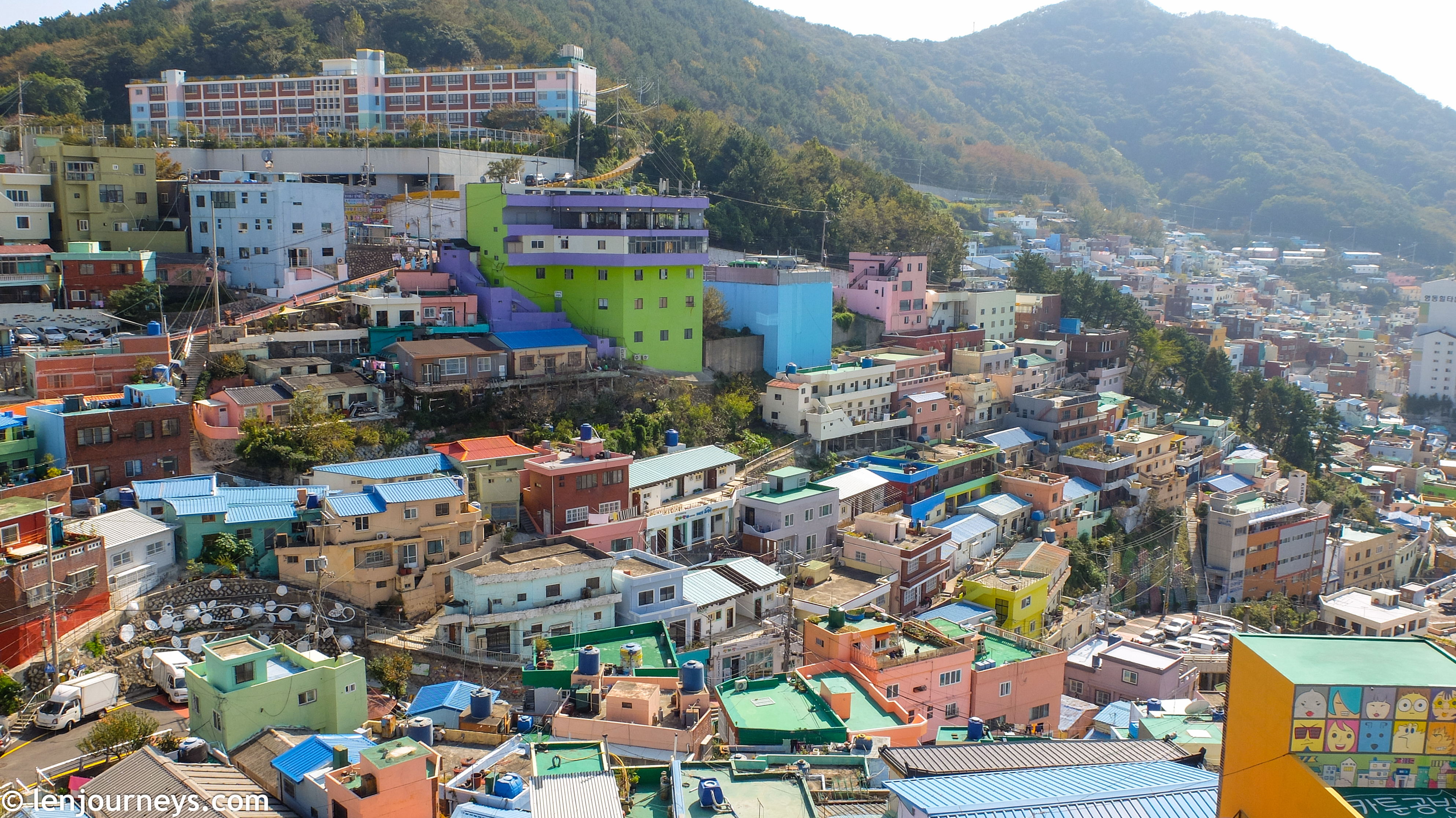 The architectural layout of Gamcheon village