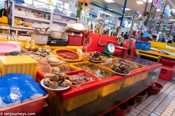 Fresh seafood at Jagalchi