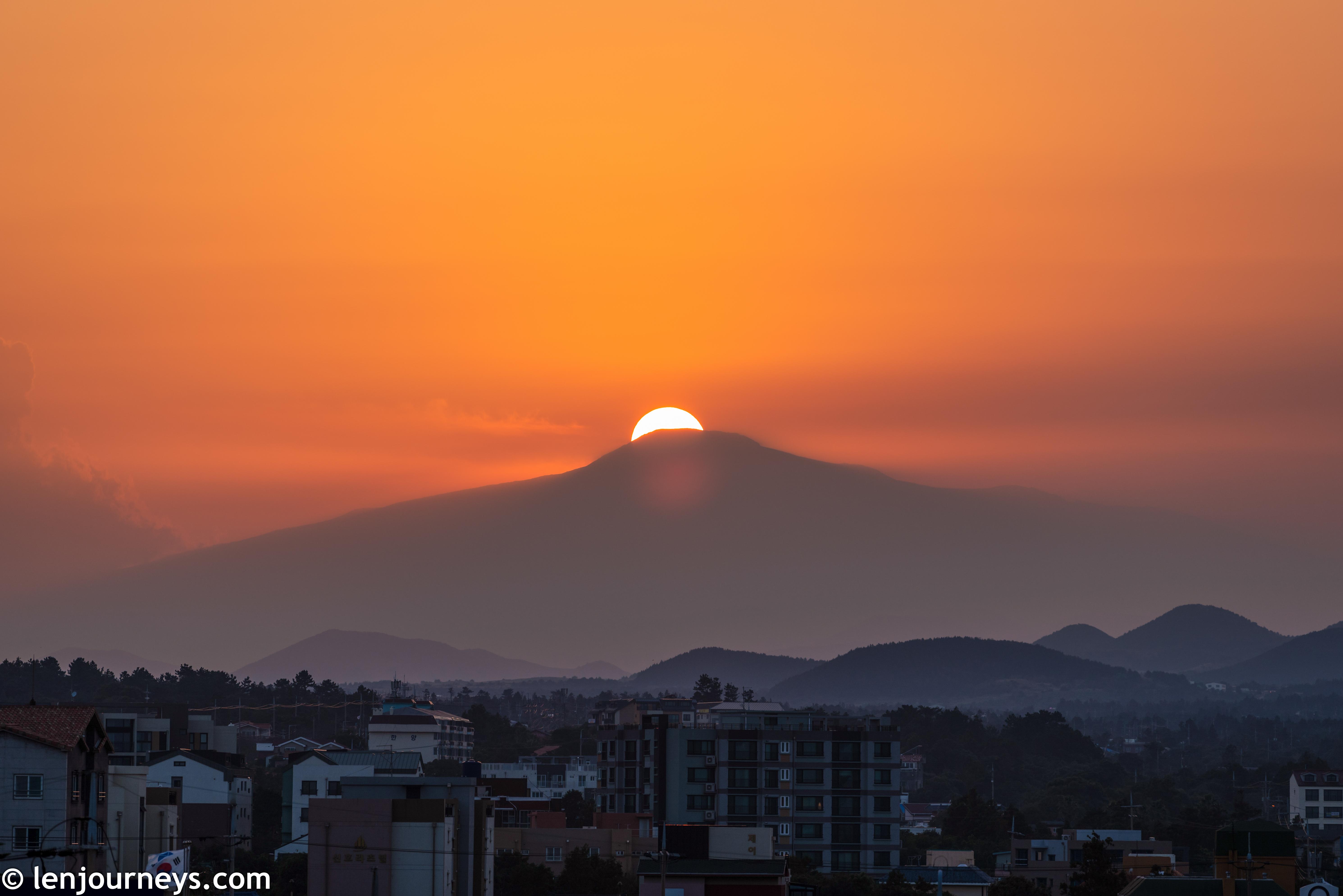 Sunset on Hallasan