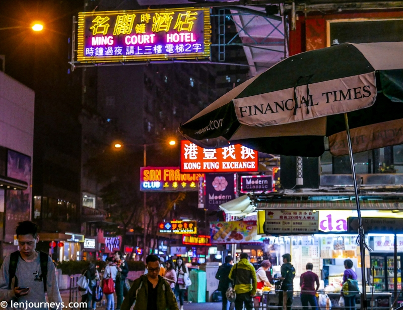 The busy neon signs